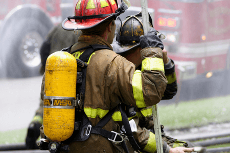 First Responders Firefighters Responding to Call