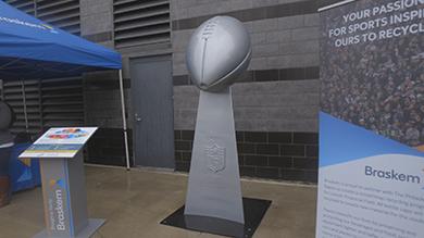 Braskem Eagles Super Bowl Trophy