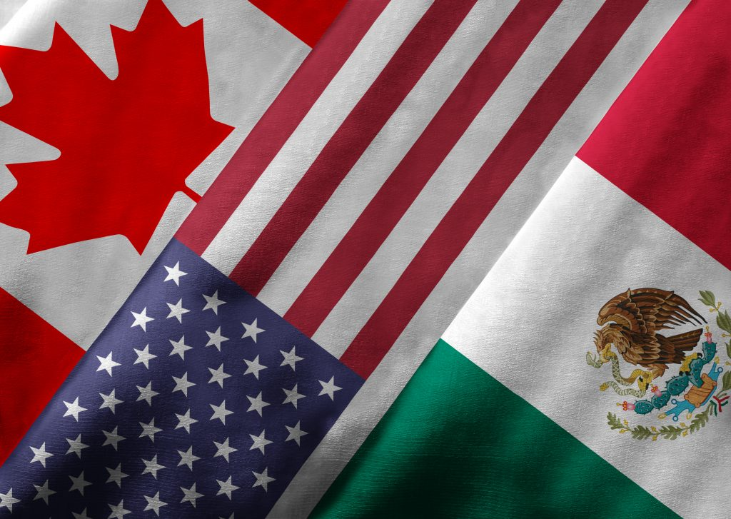 USMCA: United States, Mexico, & Canadian Flags