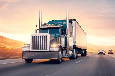 Transportation Semi Truck on Highway
