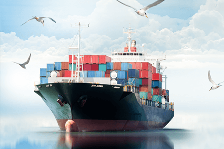 Transportation Ocean Cargo Ship at Sea