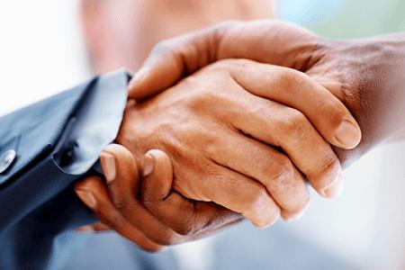 Events Handshake Close-up