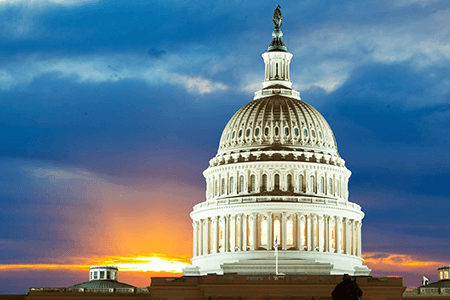 Government Capitol Dome Sunset