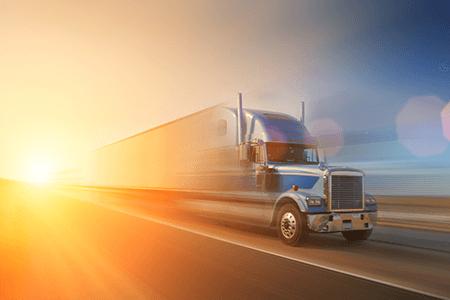 Transportation Fast Moving Semi Truck