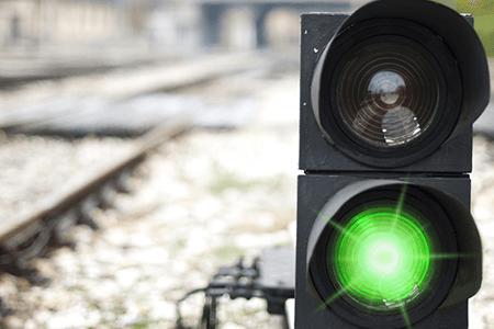 Transportation Railway Signal Green