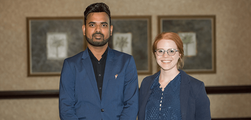 2019 CPI Scholars: Amin Nurul and Kristen Rohm attend the industry reception (not pictured CPI Scholar Rajnish Kumar)