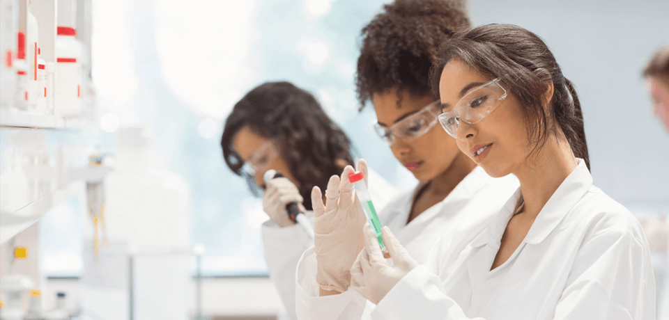 Diverse Women Conducting Research in Laboratory