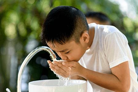 Child Drinking Safe Clean Water