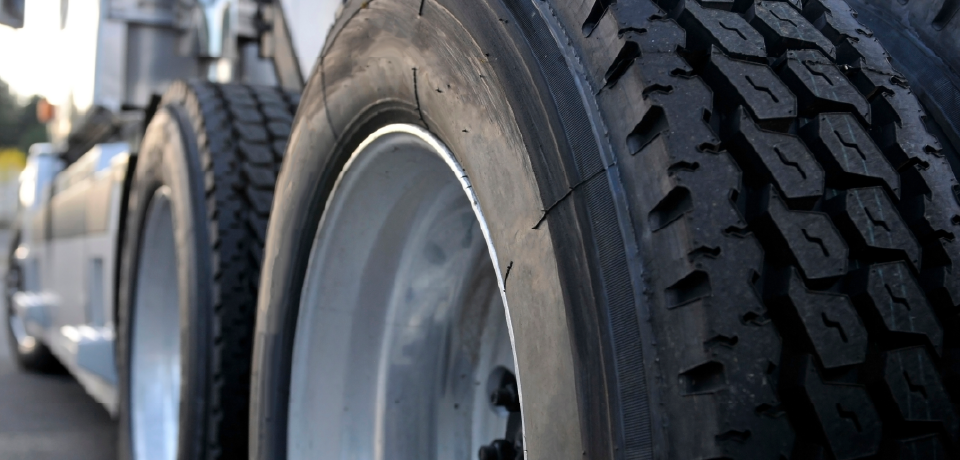 Tires on a Semi Trailer