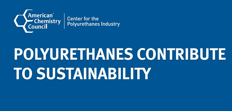 Polyurethanes Contribute to Sustainability Banner