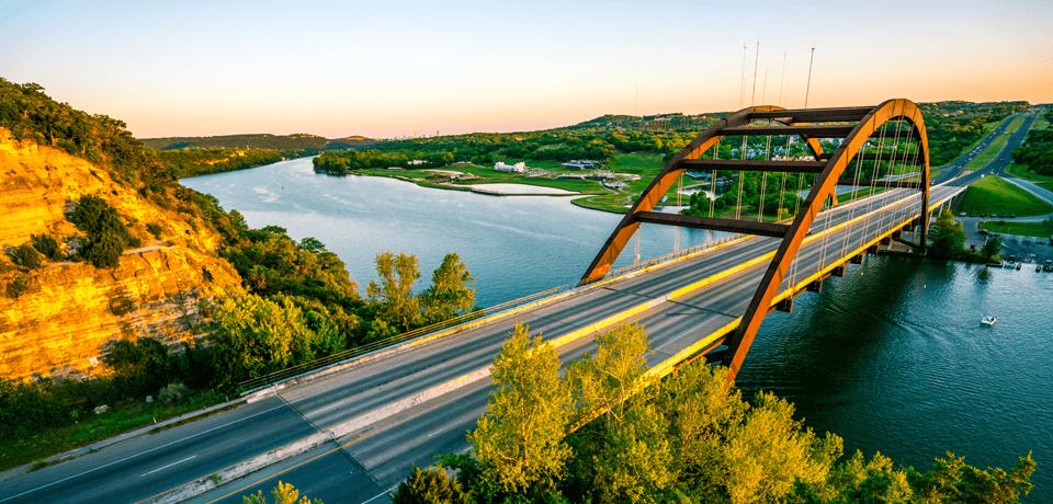 Highway Bridge Over River