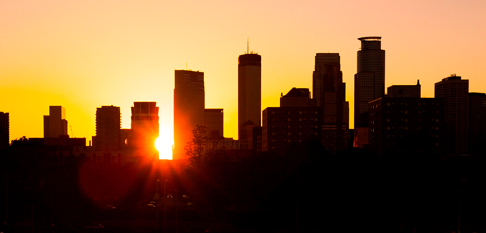 Skyline in Sunset