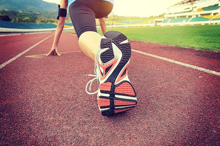 Runner Featuring Sole of Running Shoe