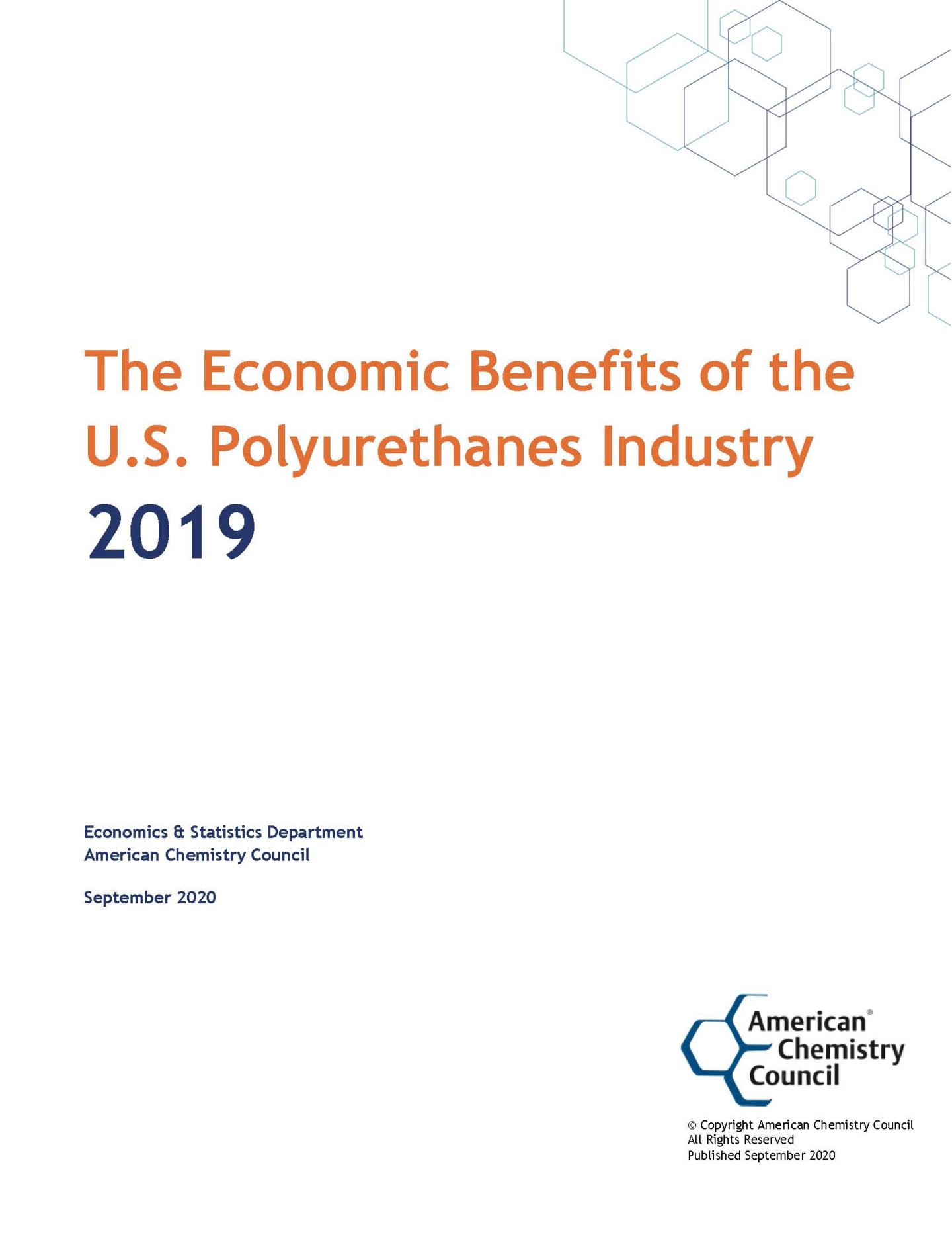The Economic Benefits of the U.S. Polyurethanes Industry 2019
