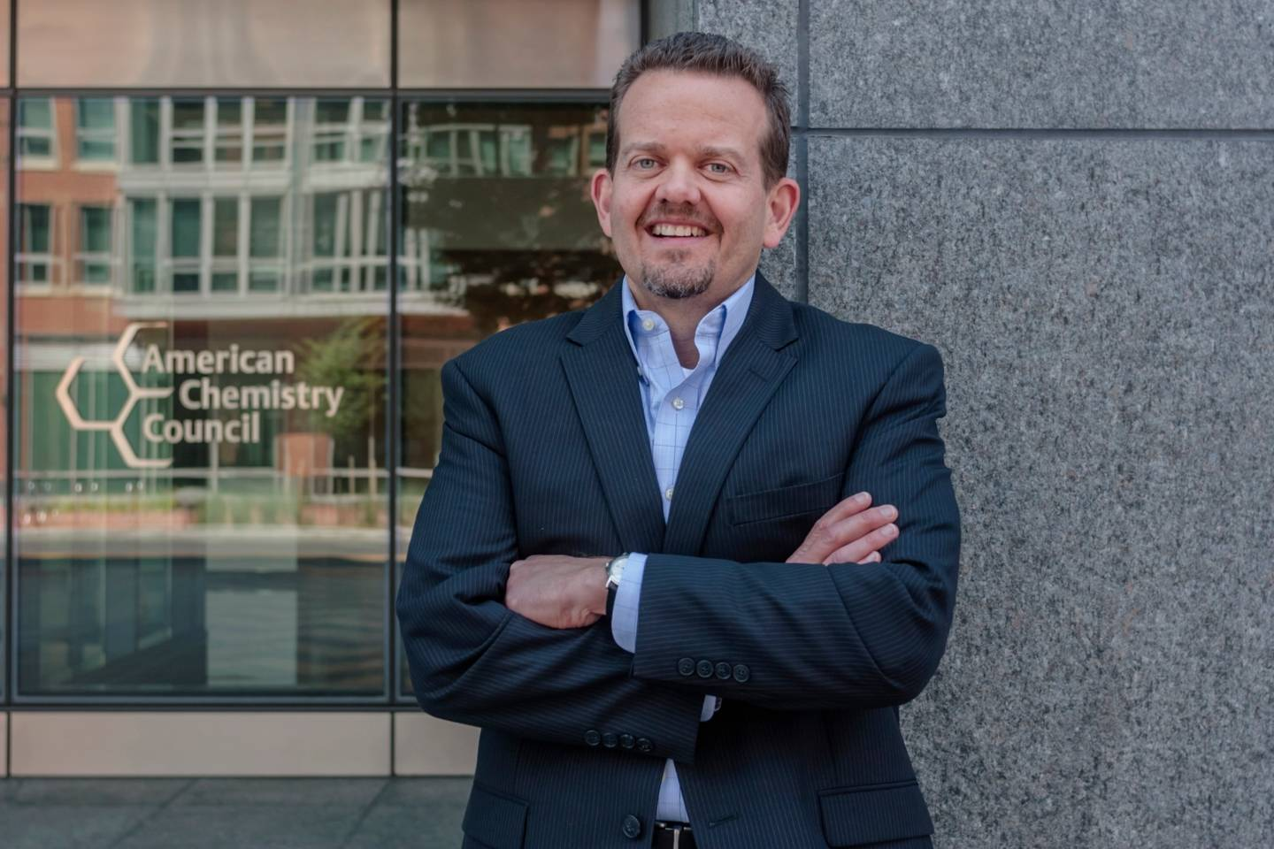 Keith Christman standing outside of the American Chemistry Council