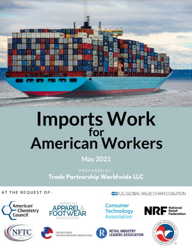 Cargo ship in water - Imports work for American workers