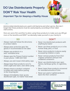 The Do's and Don'ts of Safe Disinfectant Use